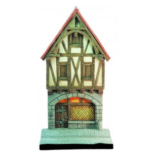 2 floors medieval House front size